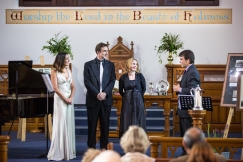 Captivating Classics Concert May 2016, Iwona Staniszewska, Matthew Kidd, Emma Pettemerides with Rev Hannes Halgryn