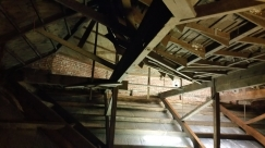 Inside the roof space - renovation works 2015