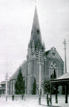 Wesley church as it was when first opened, April 1870.