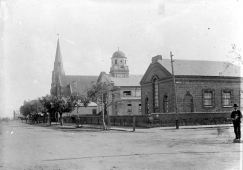 West side of William Street, looking south past Wesley Church