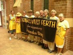 Pancake Day volunteers